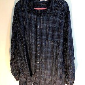 Men's navy long sleeve shirt.  Sz. XXL